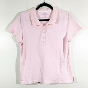 Talbots Pink Short Sleeved Polo Collared Top Sz LP